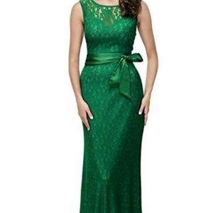 Green Lace Formal/Prom/Maxi Dress